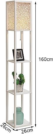 FGLDD Lámpara de pie, Estante de Madera Blanco Minimalista librería lámpara de pie Sala de Estar sofá sofá pergola lámpara de la Imagen tamaño: 26 * 26 * 160cm: Amazon.es: Hogar