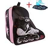 Long Feng Tipip Professional Inline Skates Travel Backpack Bag (three floor) (pink)
