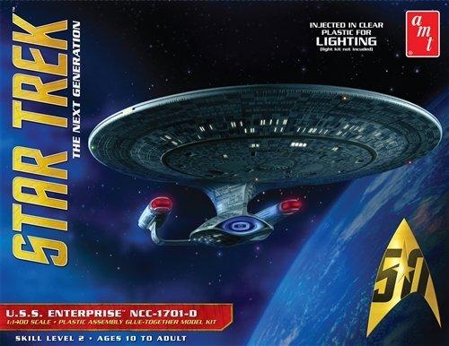 AMT AMT955 1:1400 Scale Star Trek USS Enterprise 1701-D - Clear Edition Model