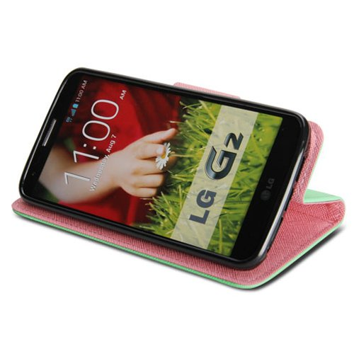 Amazon.com: LG G2 Case, GMYLE (R) Wallet Funda para LG G2 ...