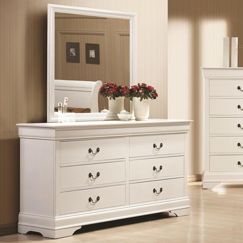 5 Pc Elizabeth Twin Bedroom Collection Bed, Dresser, Chest, Mirror, Nightstand by R&R (Image #3)