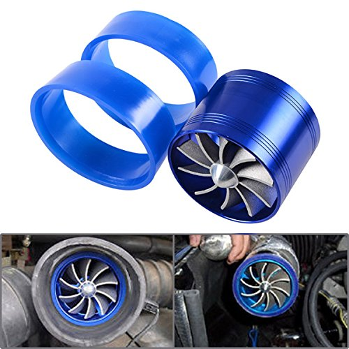 Nice 1x Blue Aluminum F1-Z After Market Replacement Air Intake Flow Turbo Single Fan + 2 Rubber Holder For Automotive Car Vehicle Jeep for cheap