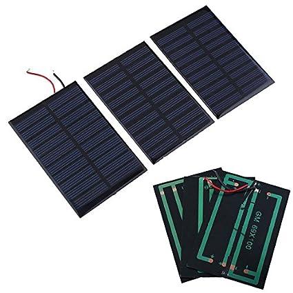 Panel solar, 5V 0.8W Panel solar Cargador de batería ...