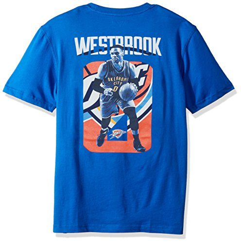(Levelwear LEY9R NBA Oklahoma City Thunder Adult Men Russell Westbrook Principal Showcase Player Name Tee, X-Large, Royal Blue )
