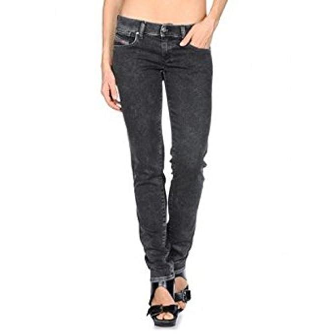 Amazon.com: Diesel Jeans para mujer Getlegg 24 Wx30L negro ...