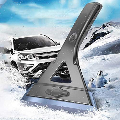 QUMocky Grattoir /à glace 2 en 1 amovible Dnow brosse multifonction pour d/éneiger camions pare-brise de voiture avec brosse /à neige antid/érapante et confortable