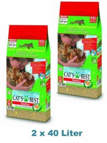 Cat's Best Öko Plus Katzenstreu 80 Liter