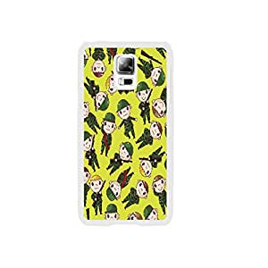 Handmade Custom Lemon Color Pattern Cute Soldiers with Guns Design Samsung Galaxy S5 I9600 Hard Plastic Cell Phone Case for Teen Girls