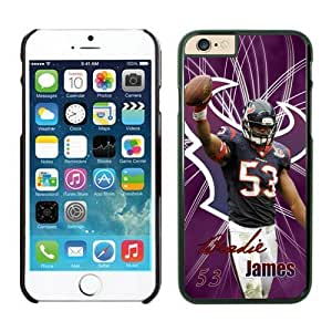 NFL Houston Texans Bradie James 53 Case Cover For Apple Iphone 6 4.7 Inch Black NFL Case Cover For Apple Iphone 6 4.7 Inch 12408