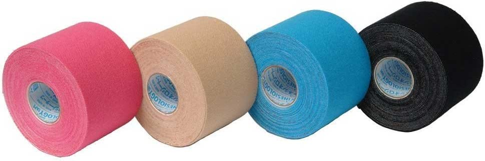 SpiderTech PRO Kinesiology Tape Rolls (Nitto Denko Material) (Blue) 51ppHQ9jsWL
