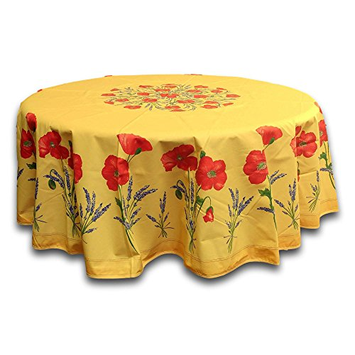 India Arts French Provencal Tablecloth Acrylic Coated 100% Cotton (71