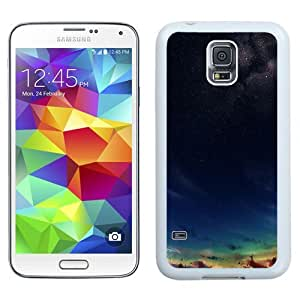 NEW Unique Custom Designed Samsung Galaxy S5 I9600 G900a G900v G900p G900t G900w Phone Case With Nature Sunset And Stars Painting_White Phone Case