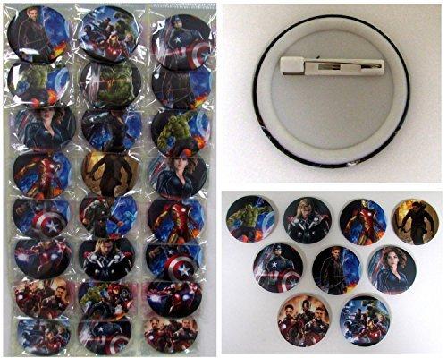 AVENGERS Button Pin Set - Birthday Party Favors - Set of 24 Party Backpack 2