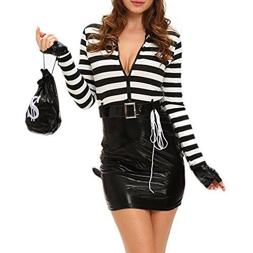 [MAX Sonne Sexy Cat Burglar Costume-(Black,One Size)] (Max Costume Party City)