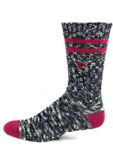 For Bare Feet Arizona Cardinals Black Alpine Crew Socks - Size Large