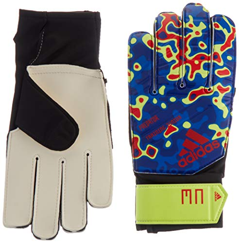 adidas Predator Junior Manuel Neuer Goalkeeper Gloves, Solar Yellow/Football Blue/Active Red, Size 5