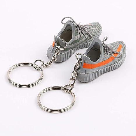 695fa286c6784 Amazon.com: Mini Sneaker 3D Keychain Figure 1:6 with Box and Bag ...