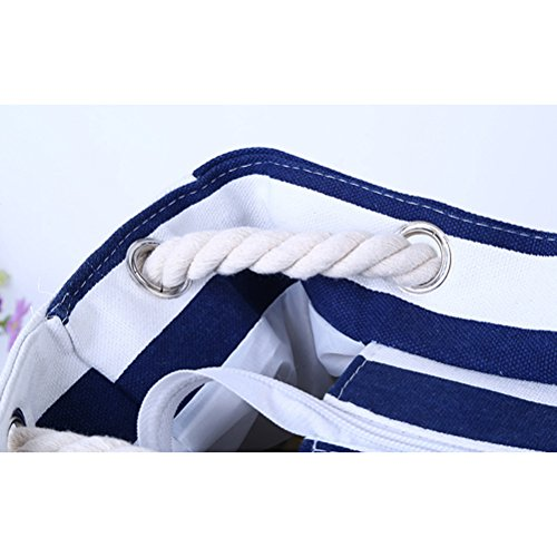 Tote Stripe Handbag Women amp; Ladies Zip Printed Red Canvas Reusable White Zhhlaixing Up Bag Extra Beach Bag Large for XtxqC4w