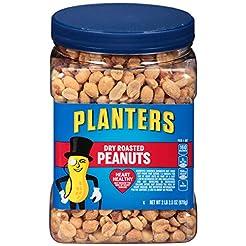 Planters Dry Roasted Peanuts, 34.5 oz Ja...