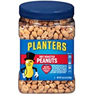 Planters Dry Roasted Heart Healthy Peanuts (34.5 oz Canister)