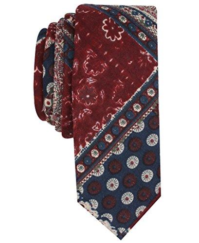 Original Penguin Men's Master Plaid Tie, maroon, One Size