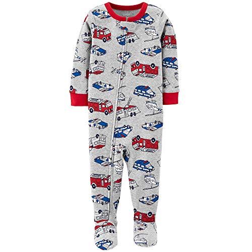 Carter's Boys 1 Piece Sleeper (Gray Multi Cars, 12 Months) ()