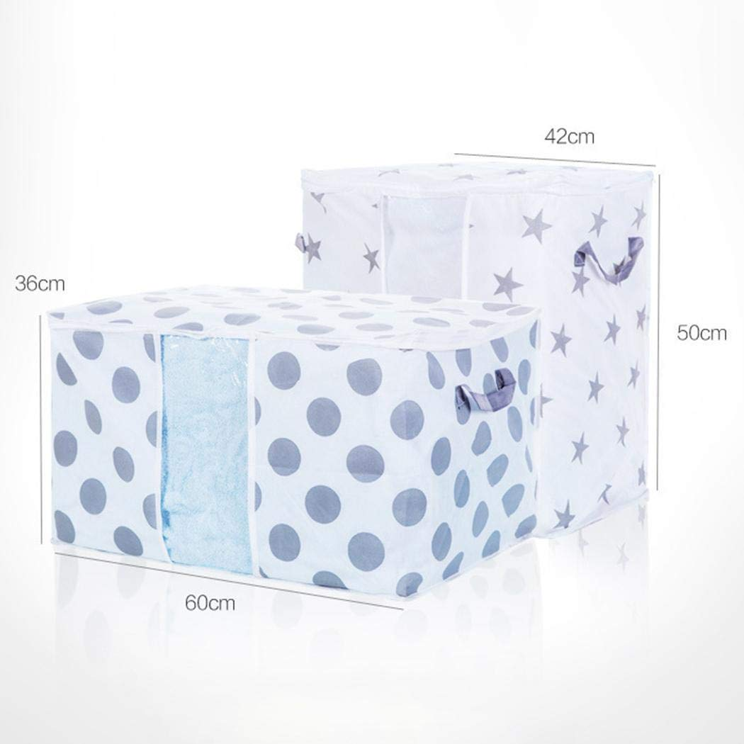 Vividy Portable Cabinets Clothes Quilts Storage Bag Foldable Luggage Organizer Box Space Saver Bags