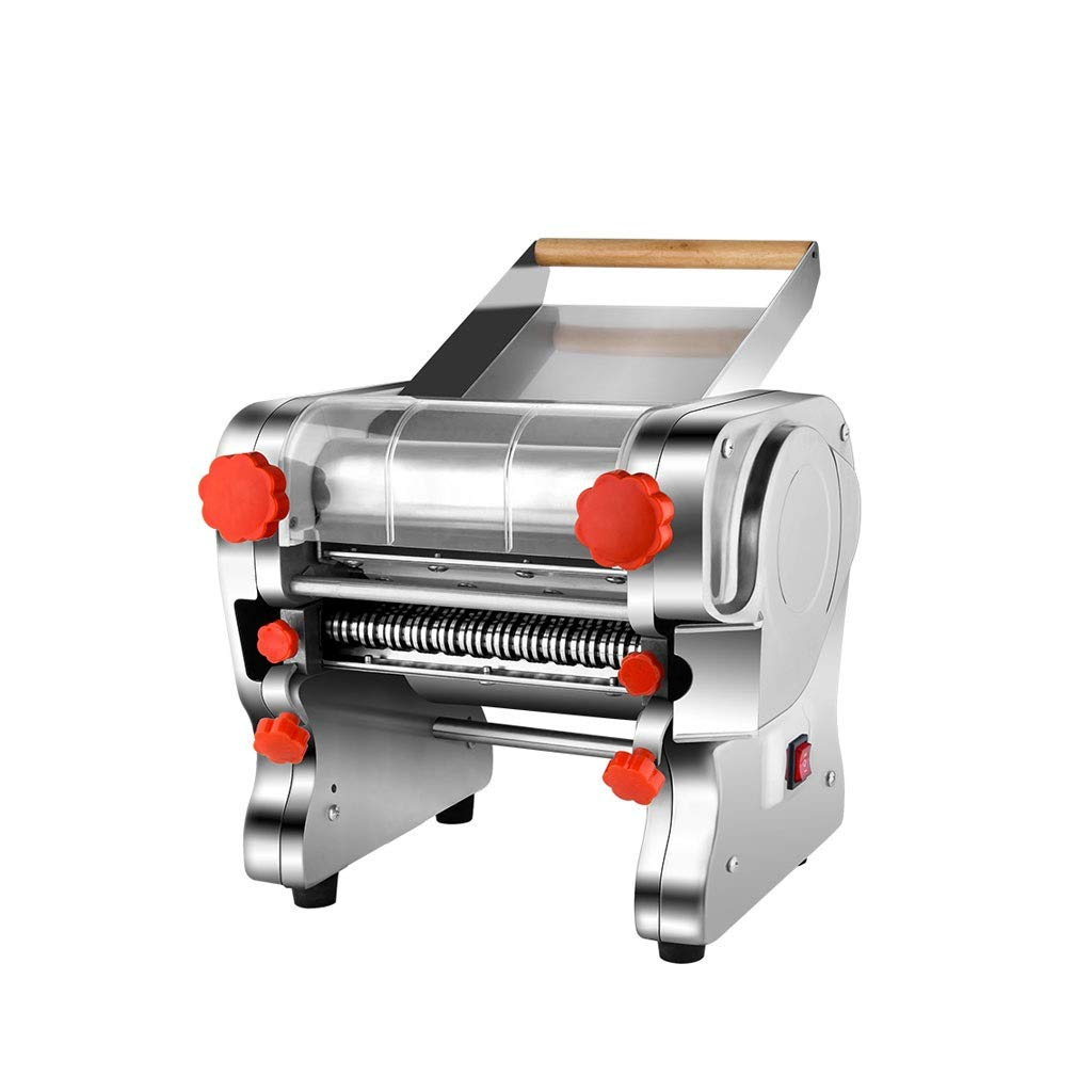Spaghetti Making Machine 110V/220V Stainless Steel Electric Pasta Noodle Press Wrappers Automatic Noodle Maker Commercial Machine Deluxe Set by Pinzhi-Pasta Machine