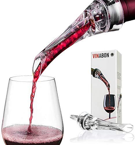 Wine Aerator - Luxury 2018 Aerator Wine Pourer - Wine Aerator Pourer - Wine Pourer - Wine Spout - Red White In Bottle Wine Aerator Kit - Slow Mini Wine Decanter Diffuser Aerator - eBook Wine Guide