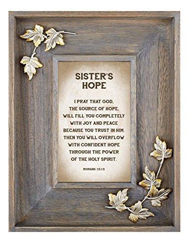 LoveLea Down Home Collection Tabletop Frame, Sister's Hope by CB Gift