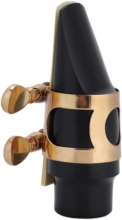 Pads Sax Mouthpiece Set Soprano Saxophone Mouthpiece with Cap Reed Buckle Saxophone Mouthpiece