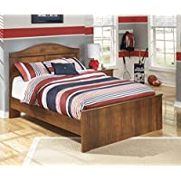 B228878486 Barchan Collection Full Panel Bed with Headboard Footboard and Rails in Warm Brown Finish