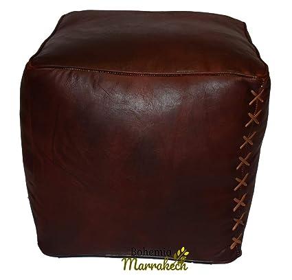 Groovy Amazon Com Bohemiamarrakech Moroccan Leather Rectangular Ncnpc Chair Design For Home Ncnpcorg