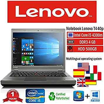 Portátil Lenovo T440p Intel i5 4300 M/4GB/500GB/DVD + RW/Win 10 Pro (Certificado y General para embragues): Amazon.es: Informática