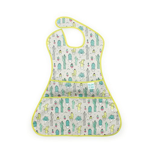 Bumkins SuperSized SuperBib, Oversized Baby Bib, Waterproof, Washable, Stain and Odor Resistant, 6-24 Months - Cactus