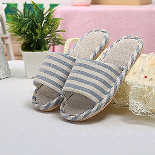 Linen Anti Derapant confortable Light Femmes Hommes Bleu Chaussures Pantoufles Tongs Plat wxaAgRq