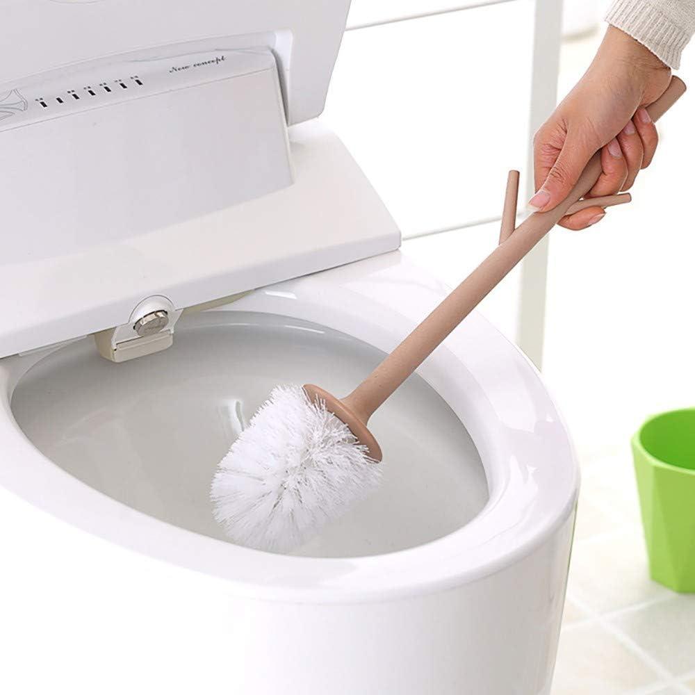 Giallo//Rosso//Verde LOHOX Scopino Bagno E Portascopino WC Pianta in Vaso Creativa Design Resina Ecocompatibile A 360 Gradi Testa di per Bagno WC