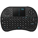 Rii i8 2.4GHz Wirelesss Touchpad Keyboard Mouse, Black (10038-SC)