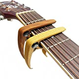 WOGOD AL-2 Capo for Acoustic Electric Classical Guitar String Capo zinc alloy Material?1Rosewood Color + 1Wood Color)