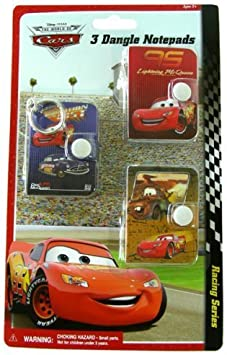 Cars Aventura sobre las ruedas Mini Dangle Notepads (3 Pack ...