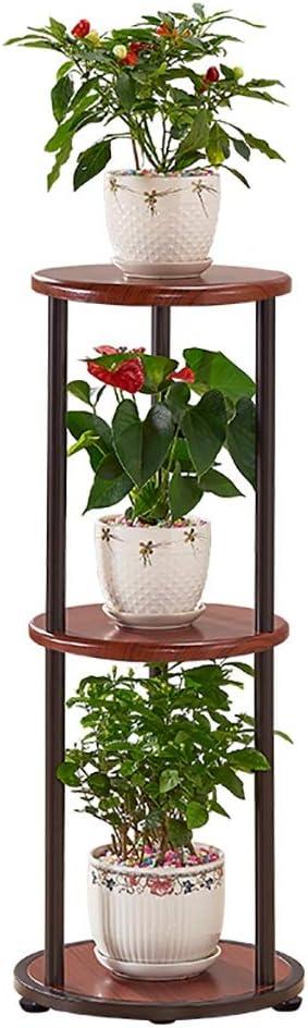 Puesto de plantas Soporte de flores verde vertical de tres capas ...