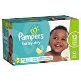 Pampers Baby-Dry Disposable Diapers Size 5 - 112 Count - GIANT