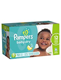 Pampers Baby-Dry Disposable Diapers Size 5, 112 Count, GIANT BOBEBE Online Baby Store From New York to Miami and Los Angeles