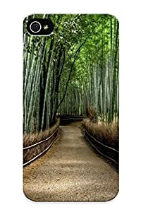 First-class Case Cover Series For Iphone 4/4s Dual Protection Cover Road Through The Bamboo Forest QnNhxtW2434acdmT