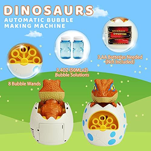 ZIZICG Bubble Machine for Toddlers, Kids, 1000+ Bubbles/min Electric Automatic Bubble Maker Blower (Dinosaur)