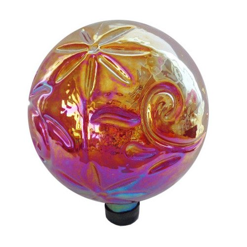 Gardener's Select A14BFG04 Glass Gazing Globe, Red, 10'' by Gardener's Select