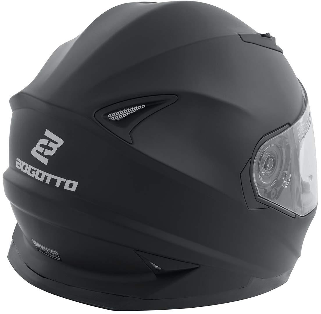 Bogotto FF302 Motorradhelm Schwarz XXL