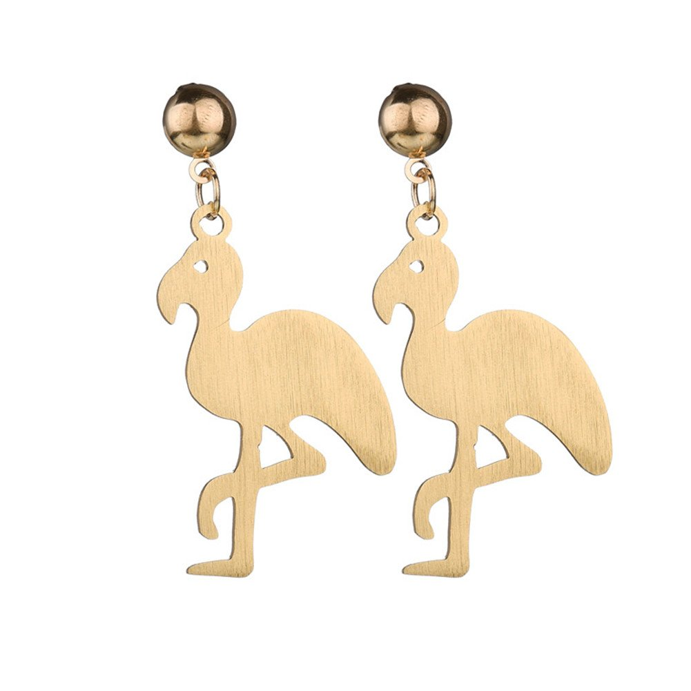 CHUYUN Trendy Acrylic Flamingo Earrings For Women Cartoon Cute Animal Earring Jewelry Flamingo Dangle Earrings for Women Girl Gift