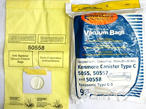 - 18 Kenmore Vacuum Bags 5055 50557 50558 Panasonic C-5 BRAND NEW