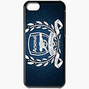 Personalized iPhone 5C Cell phone Case/Cover Skin Arsenal Desktop Background Football Black